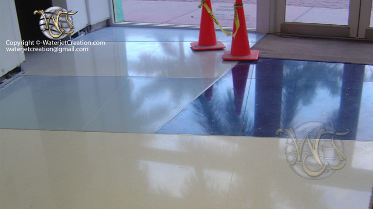 water jet cut custom floor