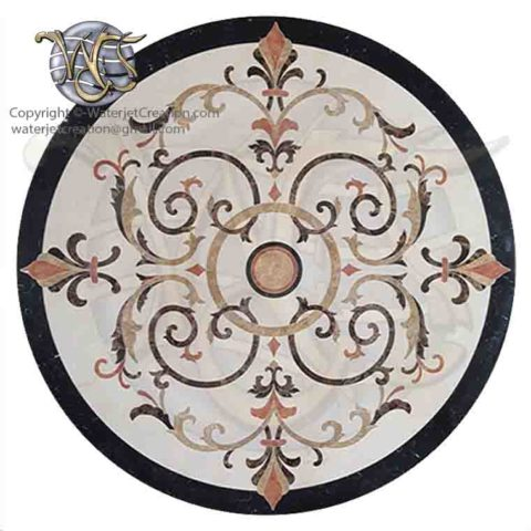 Waterjet Marble Medallion